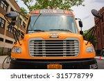 front of an orange school bus   ... | Shutterstock . vector #315778799