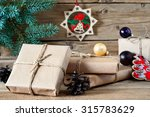 On Wooden Background Closeup O...