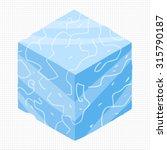 cartoon isometric ice game...
