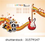 vector dance and music event... | Shutterstock .eps vector #31579147