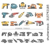 flat icons   power tools | Shutterstock .eps vector #315792185