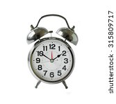 silver alarm clock on white... | Shutterstock . vector #315809717