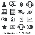 finance icon set 4  simple... | Shutterstock .eps vector #315811871