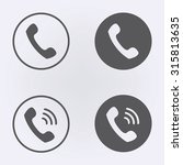 call icon set in circle .... | Shutterstock .eps vector #315813635