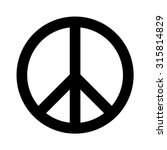 peace sign . vector illustration | Shutterstock .eps vector #315814829