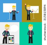 poses of young businessmen ... | Shutterstock .eps vector #315815894