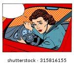 female driver offending... | Shutterstock .eps vector #315816155