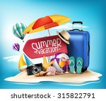 3d realistic summer vacation... | Shutterstock .eps vector #315822791