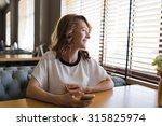 portrait of young happy female... | Shutterstock . vector #315825974