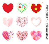 set of hearts  includes... | Shutterstock .eps vector #315839369