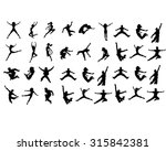 six jumping teenagers | Shutterstock .eps vector #315842381