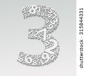number three  made with other... | Shutterstock .eps vector #315844331
