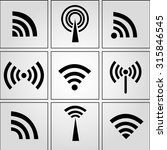 wi fi icon set | Shutterstock .eps vector #315846545