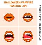 halloween vampire set of 4 sexy ...   Shutterstock .eps vector #315848519