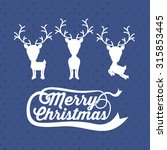 merry christmas concept with... | Shutterstock .eps vector #315853445