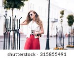 beautiful girl posing | Shutterstock . vector #315855491