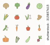 vegetable colourful icon set. | Shutterstock .eps vector #315857615