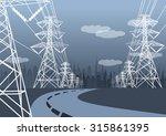 Vector Landscape High Voltage...