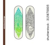 design skateboard with a color... | Shutterstock .eps vector #315870005