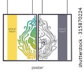 design posters with a color and ... | Shutterstock .eps vector #315870224