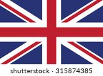 united kingdom flag. vector... | Shutterstock .eps vector #315874385