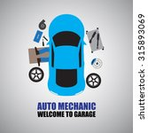 auto mechanic car mechanic... | Shutterstock .eps vector #315893069
