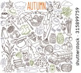 autumn themed doodle set.... | Shutterstock .eps vector #315899759
