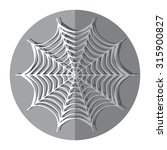 spiderweb icon with shadow  .... | Shutterstock .eps vector #315900827