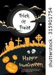halloween banner cemetery... | Shutterstock .eps vector #315901754