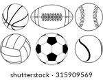 basketball ball  baseball ball  ... | Shutterstock .eps vector #315909569
