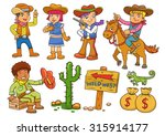 illustration of cowboy wild... | Shutterstock .eps vector #315914177