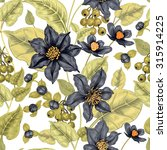 Floral Seamless Pattern On A...
