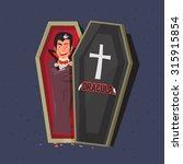 dracula in coffins. character... | Shutterstock .eps vector #315915854
