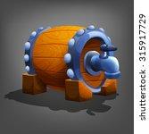 wooden barrel. vector...