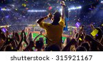 fans on stadium game panorama... | Shutterstock . vector #315921167
