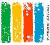set of four season vertical... | Shutterstock .eps vector #315922619