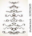 hand drawn decorative line... | Shutterstock .eps vector #315922655