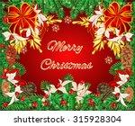 merry christmas frame of the... | Shutterstock .eps vector #315928304