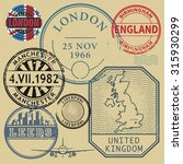 travel stamps set  vector... | Shutterstock .eps vector #315930299