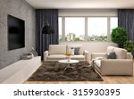 interior with sofa. 3d... | Shutterstock . vector #315930395