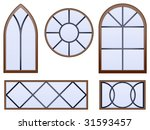 Set Of Five Decorative Vector...