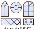 Set Of Five Decorative Vector...