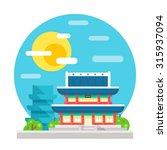 changdeokgung palace flat... | Shutterstock .eps vector #315937094