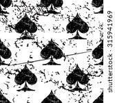 spades pattern grunge  black...