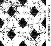 diamonds pattern grunge  black...