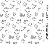shopping seamless pattern ... | Shutterstock .eps vector #315942611