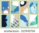 set of  modern hipster  hand... | Shutterstock .eps vector #315945704