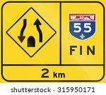 warning road sign in quebec ... | Shutterstock . vector #315950171