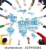 occupation job careers...   Shutterstock . vector #315950381