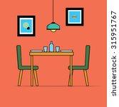 flat design of dining room | Shutterstock .eps vector #315951767